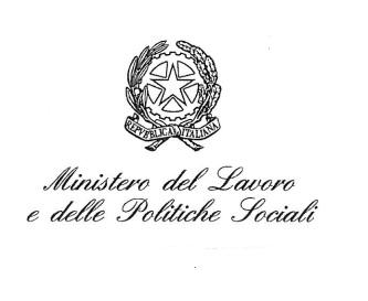 Logo ministero del lavoro e delle politiche sociali