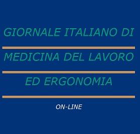 Giornale italiano medicina del lavoro ed ergonomia