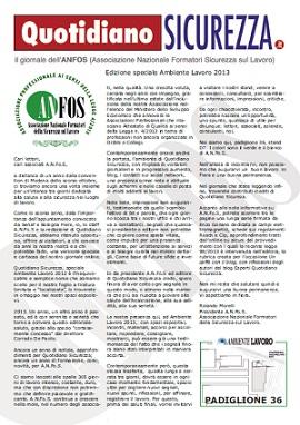 Quotidiano Sicurezza Ambiente Lavoro 2013