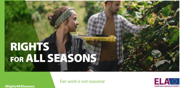Rights for all seasons, campagna informativa sui lavori stagionali